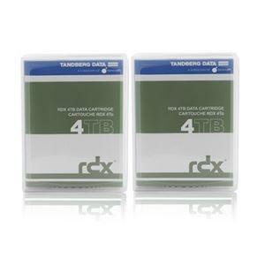 その他 Tandberg Data RDX 4TB カートリッジ 2個パック ds-2093565