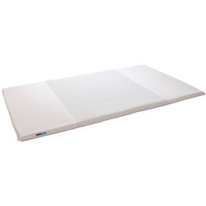 その他 高反発マットレス/寝具 【ダブルサイズ ホワイト】 三つ折り 洗える 『キュービックボディプレミアム』 ds-2091425