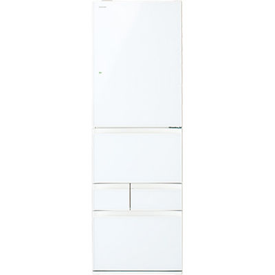 東芝 411L 右開き5ドア冷蔵庫(グランホワイト) GR-P41GXV-EW【納期目安:2週間】