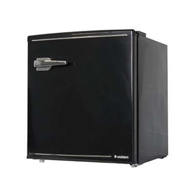 エスキュービズム 1ドア レトロ冷蔵庫 48L (ブラック)(沖縄離島配達不可) WRD-1048K