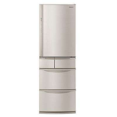 パナソニック 406L パーシャル搭載冷蔵庫 右開き 5ドア (シャンパン) NR-E414V-N