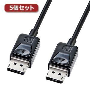 その他 5個セット サンワサプライ DisplayPortケーブル1m KC-DP1KX5 ds-2097977