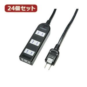 その他 YAZAWA 24個セット ノイズフィルター付AV機器タップ Y02KNS402BKX24 ds-2102963