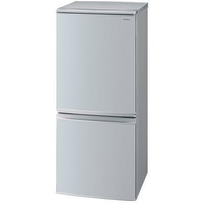 シャープ 137L 冷蔵庫 ドア開閉左右付替 2ドア(シルバー系) SJ-D14E-S【納期目安:2週間】