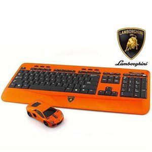その他 LANDMICE Lamborghini LP700 2.4G無線マウス+キーボード (オレンジ) LB-LP700KM-OR ds-2109308