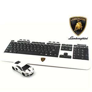 その他 LANDMICE Lamborghini LP700 2.4G無線マウス+キーボード (ホワイト) LB-LP700KM-WH ds-2109309
