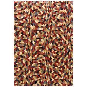 その他 トルコ製 ラグマット/絨毯 【ダイヤ柄 200cm×290cm】 長方形 ウィルトンラグ 『AURA オーラ』 〔リビング〕 ds-2113376