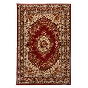 その他 クラシック調 ラグマット/絨毯 【240cm×340cm レッド】 長方形 洗える 折りたたみ ウィルトン 『シャハリヤ』 ds-2113437