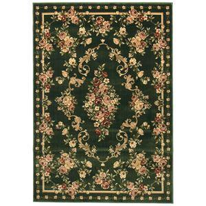 その他 トルコ製 ラグマット/絨毯 【230cm×330cm グリーン】 長方形 高耐久 ウィルトン 『ロゼ』 〔リビング ダイニング〕【代引不可】 ds-2113729