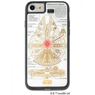 アイアップ STAR WARS スター・ウォーズ グッズコレクション FLASH M-FALCON 基板アート iPhone 7/8ケース 白 F7/8W