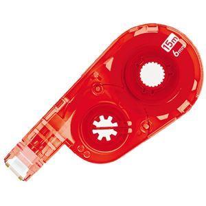 その他 (まとめ) プラス 修正テープホワイパースイッチ交換テープ 6mm レッド WH-1516R-10P 1パック(10個) 【×5セット】 ds-2115819