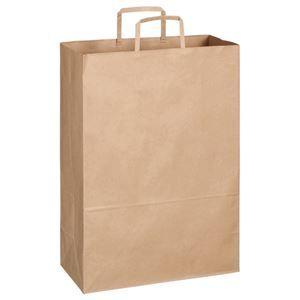 その他 TANOSEE 紙手提袋 平紐 特大ヨコ340×タテ480×マチ幅170mm 茶無地 1セット(300枚:30枚×10パック) ds-2115990