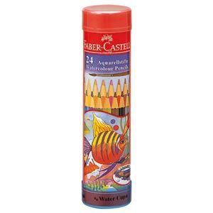 その他 (まとめ) ファーバーカステル 水彩色鉛筆 丸缶24色 TFC-115924 1セット 【×5セット】 ds-2117057