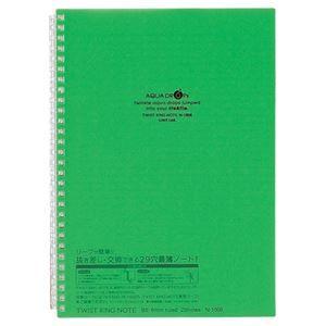 その他 (まとめ) リヒトラブ AQUA DROPsツイストノート セミB5 29穴 B罫 30枚 黄緑 N-1608-6 1冊 【×30セット】 ds-2117469