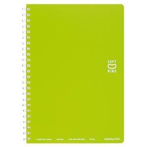 その他 (まとめ) コクヨソフトリングノート(ドット入り罫線) A5 B罫 50枚 ライトグリーン ス-SV331BT-LG 1冊 【×30セット】 ds-2117529