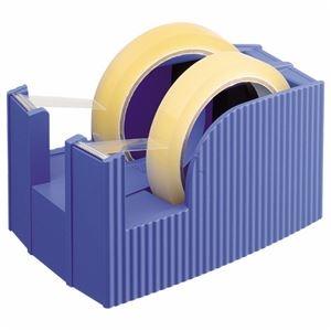 その他 (まとめ) ライオン事務器 テープカッター(フリス)2連 太巻用 112×171×92mm ブルー TC-30 1台 【×5セット】 ds-2120269