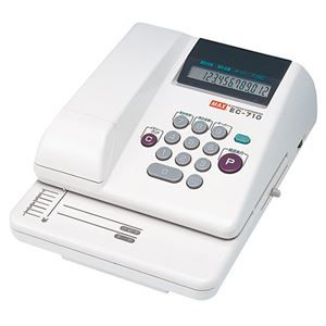 その他 マックス 電子チェックライタEC-710 1台 ds-2120321