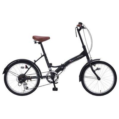 マイパラス 最もシンプルでスタンダードなスペシャルバリューバイシクル 折畳自転車20インチ・6段ギア (マットブラック) M-205-BK
