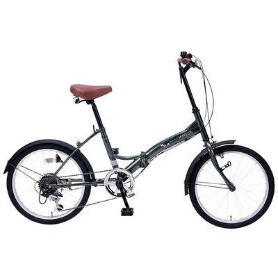 マイパラス 最もシンプルでスタンダードなスペシャルバリューバイシクル 折畳自転車20インチ・6段ギア (セージグリーン) M-205-GR