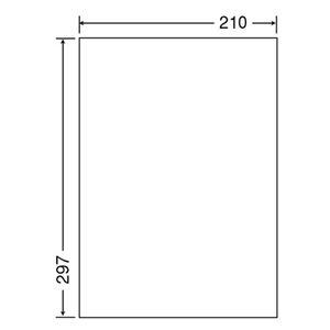 その他 東洋印刷 ナナクリエイトカラーレーザープリンタ用光沢ラベル A4 ノーカット SCL-7 1箱(400シート:80シート×5冊) ds-2125499
