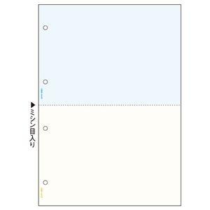 その他 ヒサゴ マルチプリンタ帳票 A4 カラー2面(ブルー/クリーム) 4穴 BP2011WZ 1セット(2400枚) ds-2125541