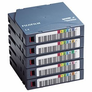 その他 富士フイルム LTO Ultrium3データカートリッジ バーコードラベル(横型)付 400GB LTO FB UL-3 OREDPX5Y1パック(5巻) ds-2125706