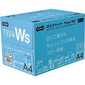 その他 (まとめ)TANOSEE αエコペーパータイプWS 白くて滑らか、ちょっとコシのあるコピー用紙。 A4 1箱(2500枚:500枚×5冊) 【×3セット】 ds-2126449