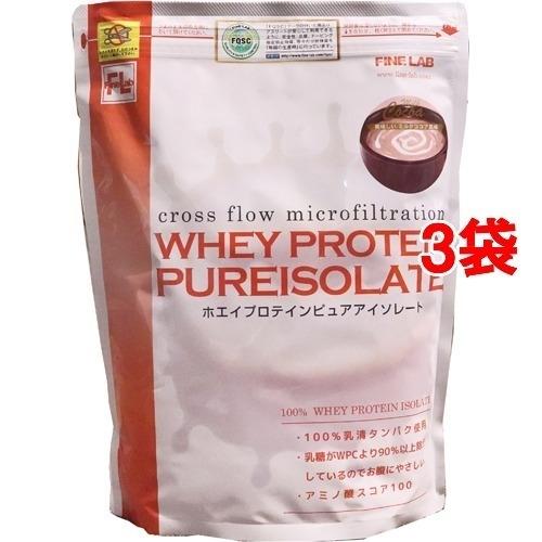ファインラボ ファインラボ ホエイプロテイン ピュアアイソレート ミルクココア風味 1kg*3コセット 26984