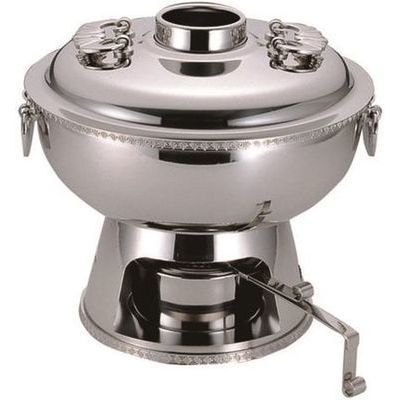 その他 UK 18-8ホーコ鍋 固型ランプ付25cm 4520785063046