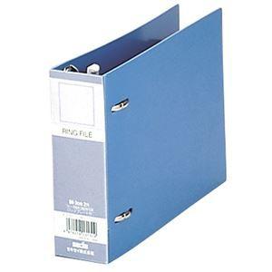 その他 (まとめ)セキセイ ロックリングファイル B6ヨコ2穴 280枚収容 背幅43mm F-232-10ブルー 1冊 【×30セット】 ds-2127539