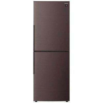 シャープ 2ドア冷蔵庫 (280L・右開き) ブラウン系 SJ-PD28E-T【納期目安:約10営業日】