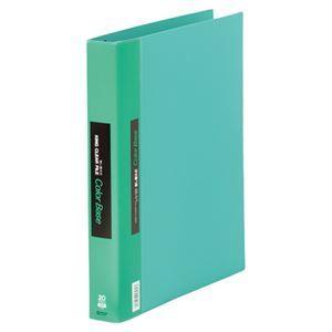 その他 キングジム クリアーファイルカラーベース 差し替え式 A4タテ 30穴 15ポケット付属 背幅40mm 緑 139W 1セット(5冊) ds-2130260