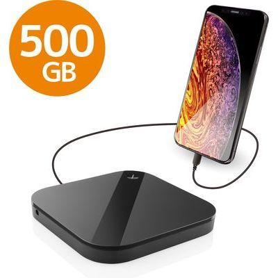 エレコム ELECOM Portable Drive USB3.0 500GB Black/スマートフォン用 ELP-SHU005UBK