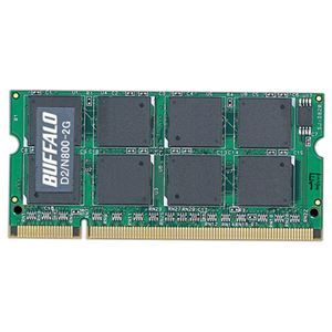 その他 バッファロー PC2-6400 DDR2800MHz 200Pin SDRAM S.O.DIMM 2GB D2/N800-2G 1枚 ds-2137444