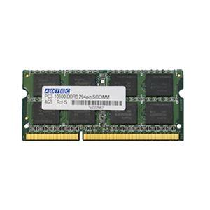 その他 アドテック DDR3 1333MHzPC3-10600 204Pin SO-DIMM 4GB ADS10600N-4G 1枚 ds-2137450