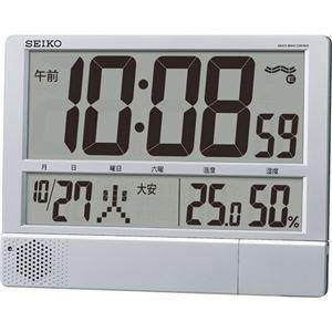その他 セイコークロック プログラム電波時計温湿度表示付 掛置兼用 SQ434S 1台 ds-2137864