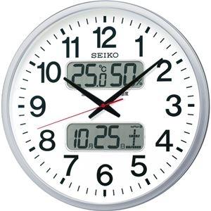 その他 セイコークロック 電波掛時計オフィスタイプ カレンダー・温度湿度表示付 KX237S 1台 ds-2137865
