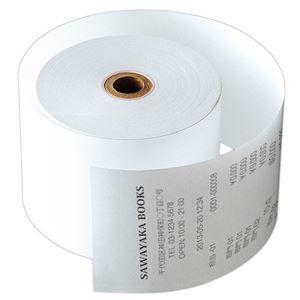 その他 サーマルレジロール紙紙幅58×芯内径17.5mm 巻長63m 中保存タイプ 1セット(80巻:5巻×16パック) ds-2138288