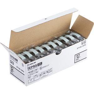 その他 キングジム テプラ PROテープカートリッジ 12mm 透明/黒文字 エコパック ST12K-10PN1セット(30個:10個×3パック) ds-2138848