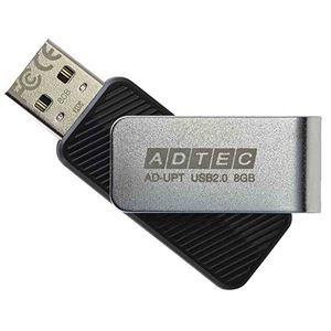 その他 アドテック USB2.0回転式フラッシュメモリ 8GB ブラック AD-UPTB8G-U2R 1セット(10個) ds-2141321