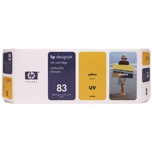 その他 HP HP83 インクカートリッジUVイエロー 顔料系 C4943A 1個 ds-2142997