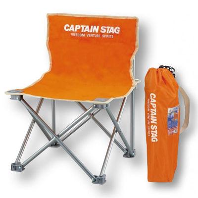 その他 【12個セット】キャプテンスタッグ コンパクトチェアミニ1個(オレンジ) 2214028