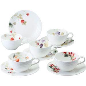 その他 ナルミ ルーシーガーデン 5客アソートティー・コーヒー碗皿 B3007026 B4161530 ds-2149134