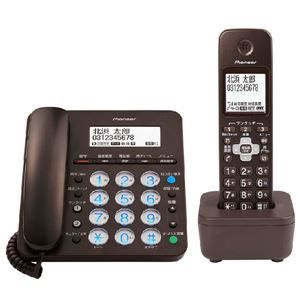 その他 パイオニア デジタルコードレス留守番電話機 子機1台付 ブラウン TF-SA36S(BR) ds-2150849