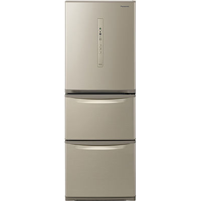 パナソニック 3ドア 右開き 335L ノンフロン冷蔵庫 シルキーゴールド NR-C340C-N
