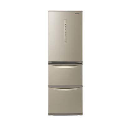 パナソニック 365L 野菜室が真ん中 3ドア冷蔵庫 (右開き) (シルキーゴールド) NR-C370C-N