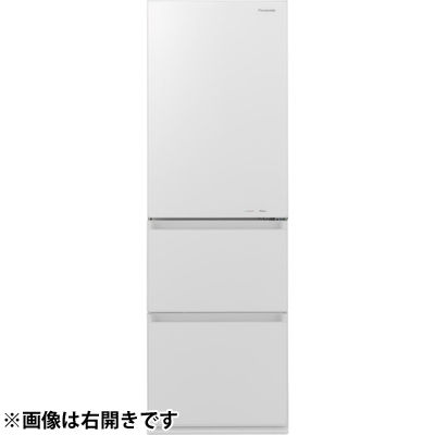 パナソニック 365L 野菜室が真ん中 3ドア冷蔵庫 (左開き) (スノーホワイト) NR-C370GCL-W