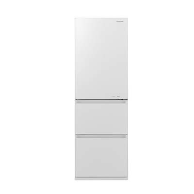 パナソニック 365L 野菜室が真ん中 3ドア冷蔵庫 (右開き) (スノーホワイト) NR-C370GC-W