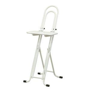 その他 シンプル 折りたたみ椅子 【ホワイト×ホワイト 幅330mm】 日本製 スチールパイプ 『ベストワークチェア』【代引不可】 ds-2154291