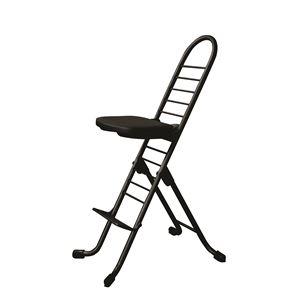 その他 シンプル 折りたたみ椅子 【ブラック×ブラック】 SH31~84cm スチールパイプ 『プロワークチェア』【代引不可】 ds-2154302